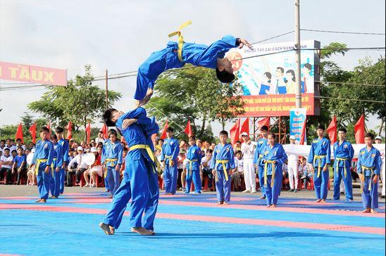Thi đấu võ Vovinam trong sự kiện Thể dục thể thao